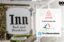Airbnb partnership logo next to a bed and breakfast Inn sign