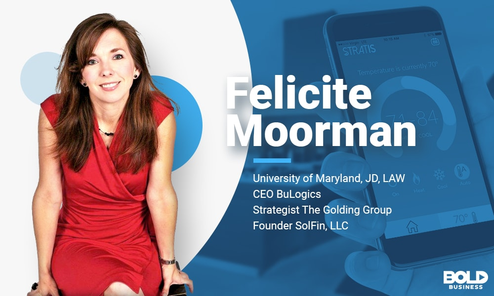Female CEO named Feklicite Moorman who launched a smart home app