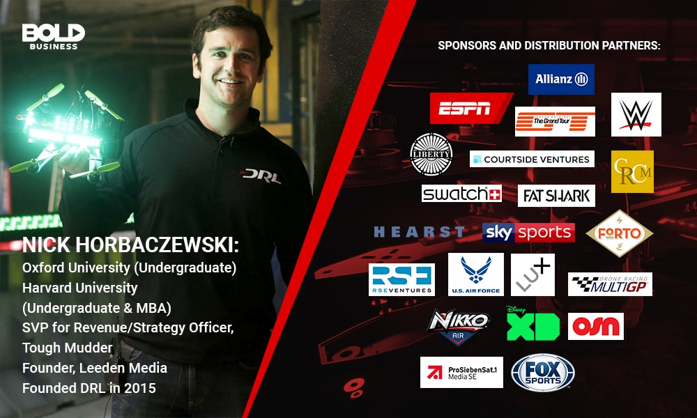 Nick Horbaczewski and DRL's sponsors