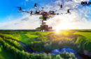 Tree Planting Drone floating in air distributing seeds