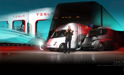 drawings of Tesla Megacharger for Semi Trucks