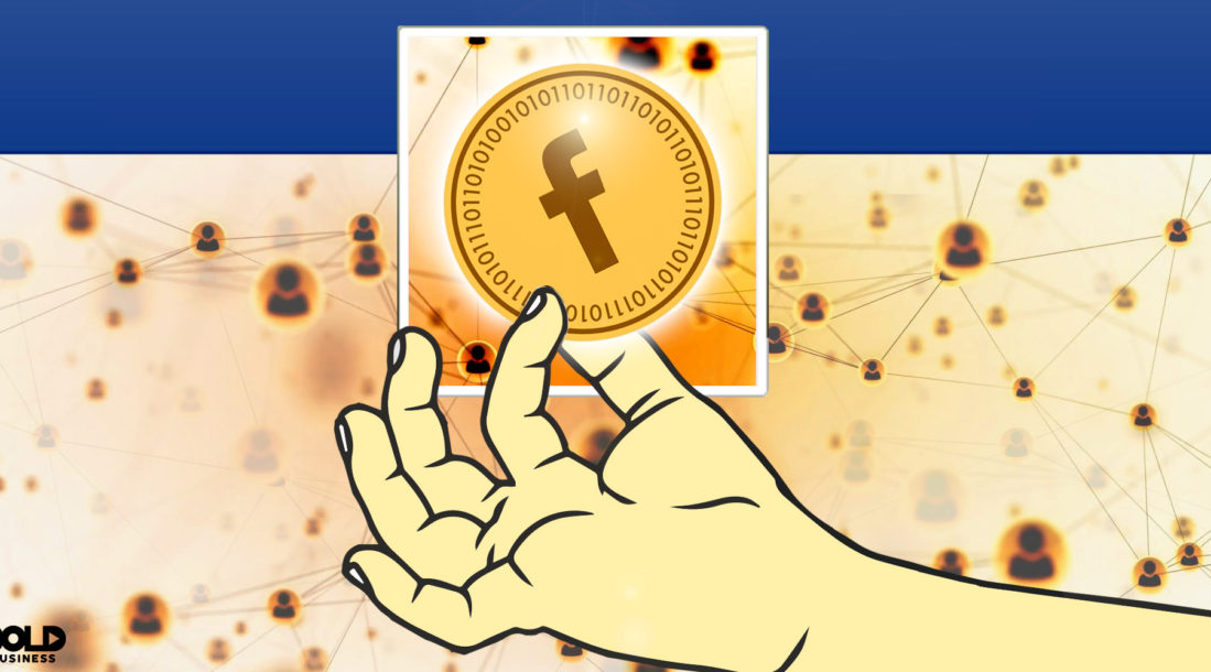 Facebook and Cryptocurrency Illustration