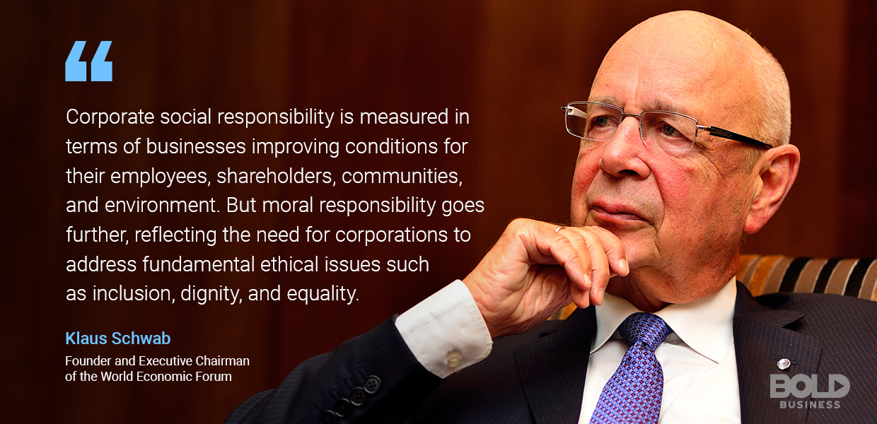 corporate social responsibility, klaus schwab quoted