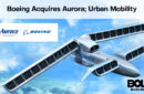 futuristic aircraft drawing with Boeing Acquires Aurora; Urban Mobility headline