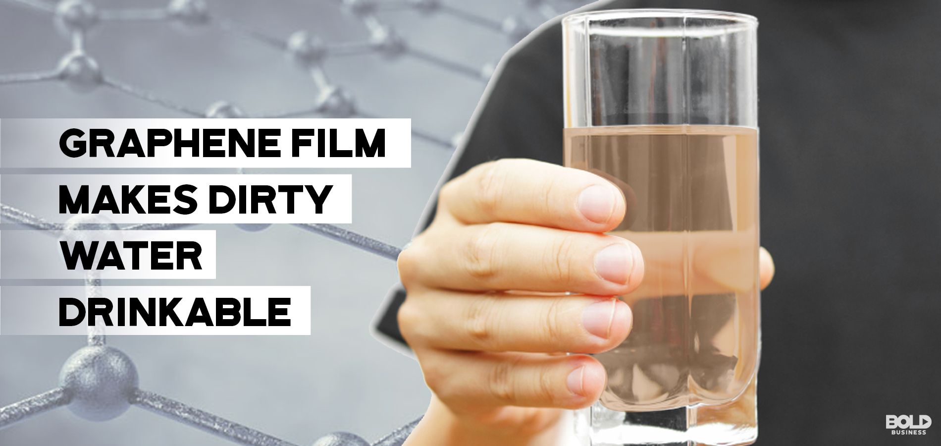 a photo containing an image of a hand holding up a glass of water with the words