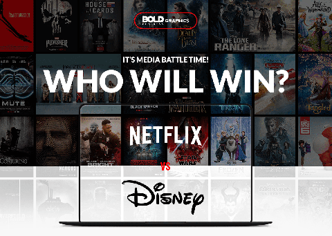 netflix vs disney infographic