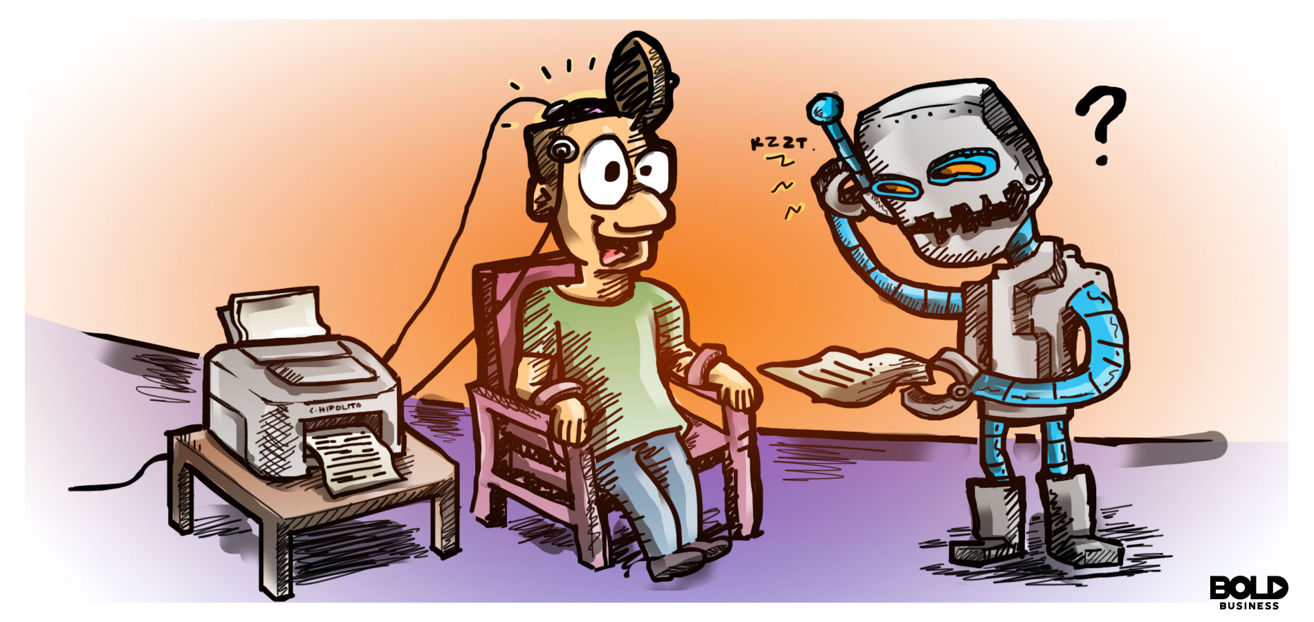 A Cartoon on The Future of Mind Reading Robot