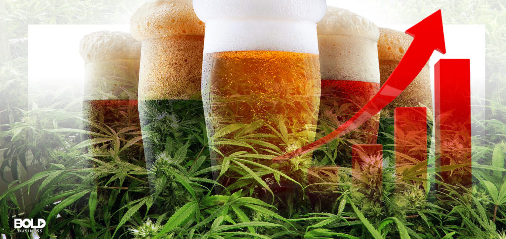 Illustration of how the the legalization of cannabis can soon top the alcohol industry.