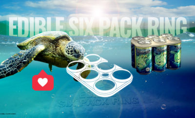 Biodegradable Six-Pack Rings for Beer