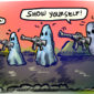 a cartoon of ghost soldiers holding guns amid the advances in military invisible technology