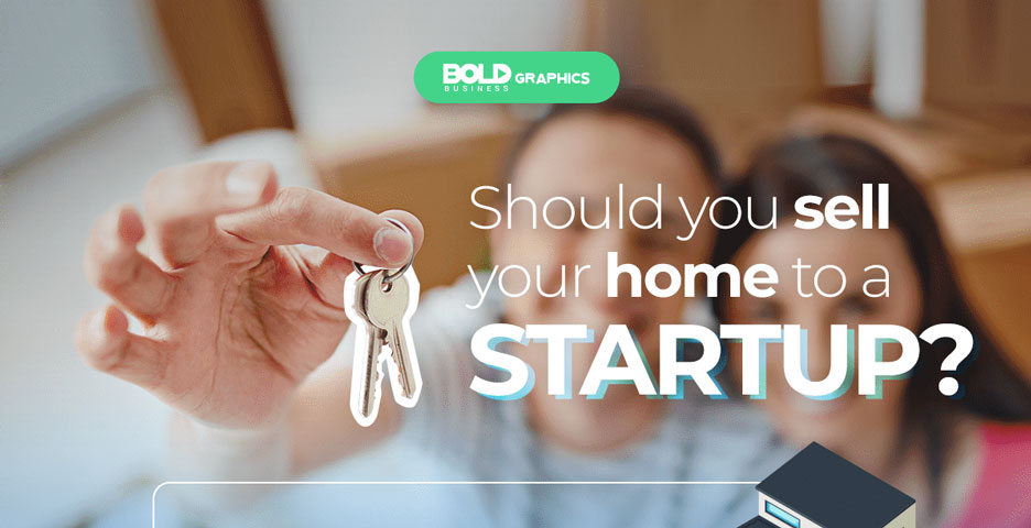 Couple Holding Keys selling to a start up company