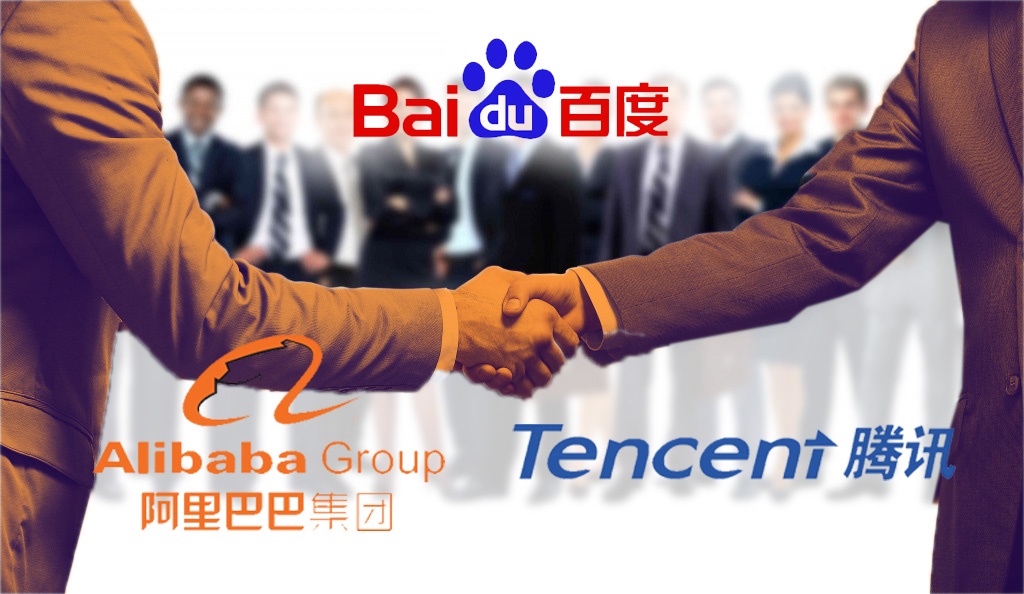 Alibaba, Tencent and their tech partner Baidu, China's AI company