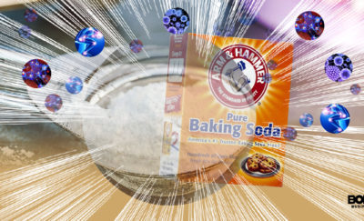 custom graphic of baking soda with autoimmune cells