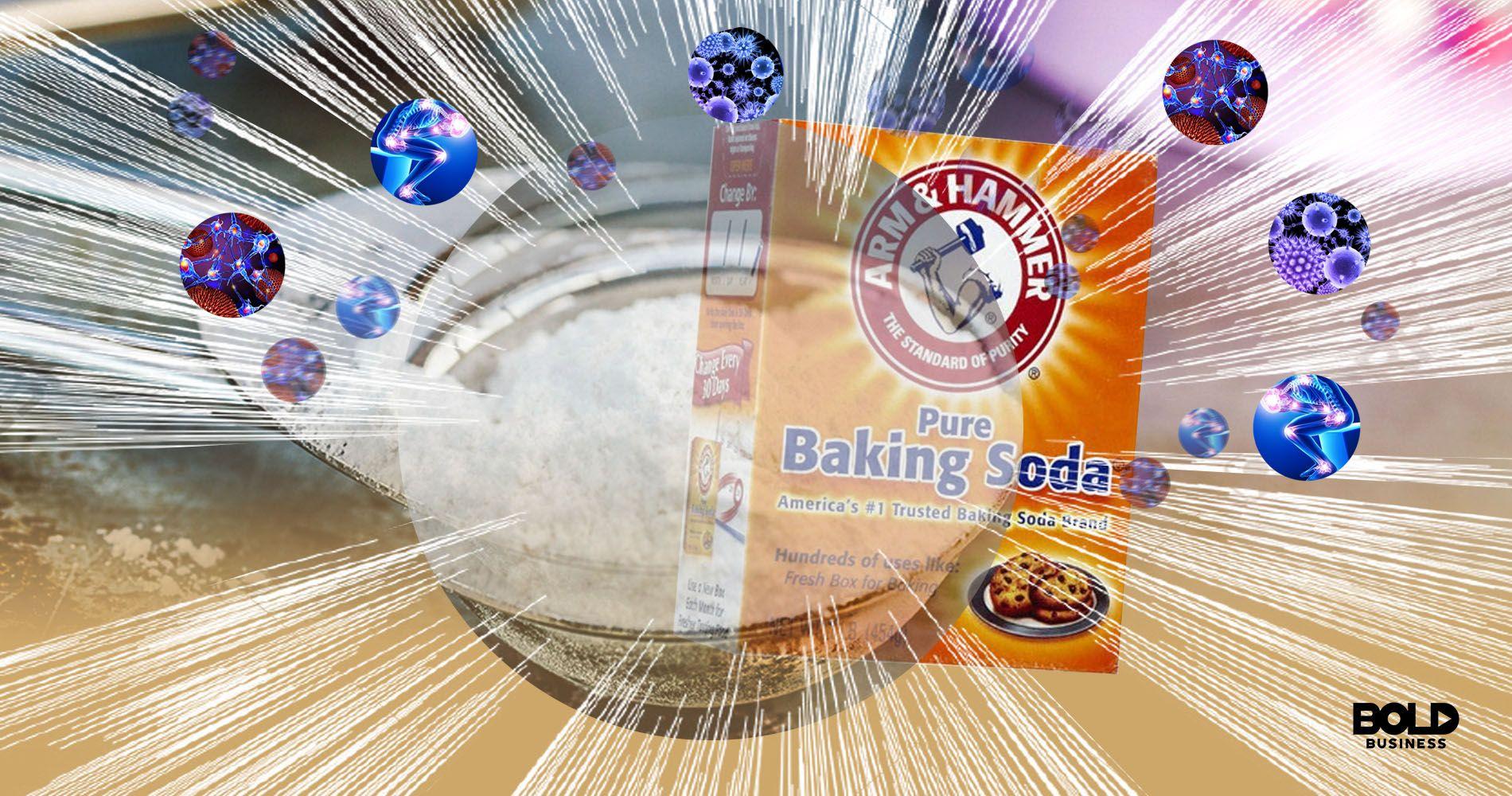 custom graphic of baking soda with autoimmune cells