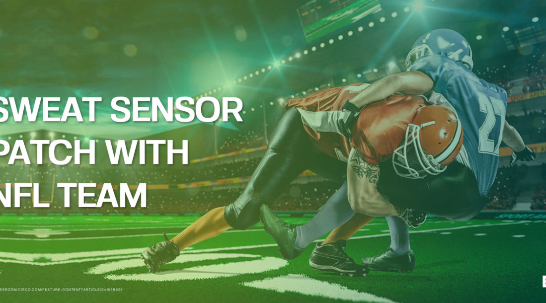 GraphWear Technologies is testing on NFL players their wearable sensor that analyzes sweat.