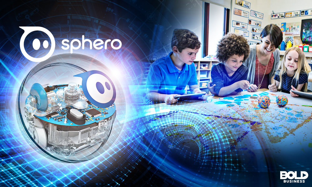 Disney Sphero kids playing with a teacher
