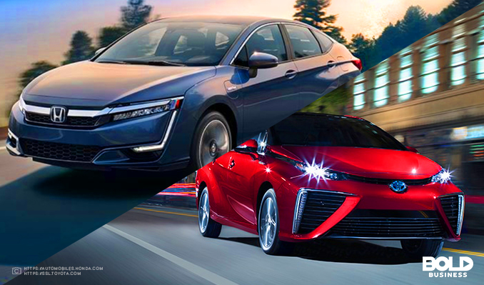Toyota Mirai and Honda Clarity hydrogen powered cars