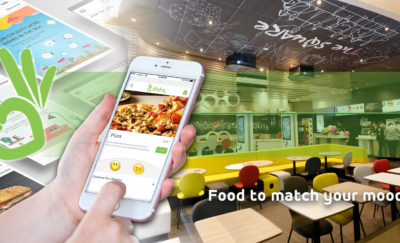 Using smartphone app to select the meal to match your mood