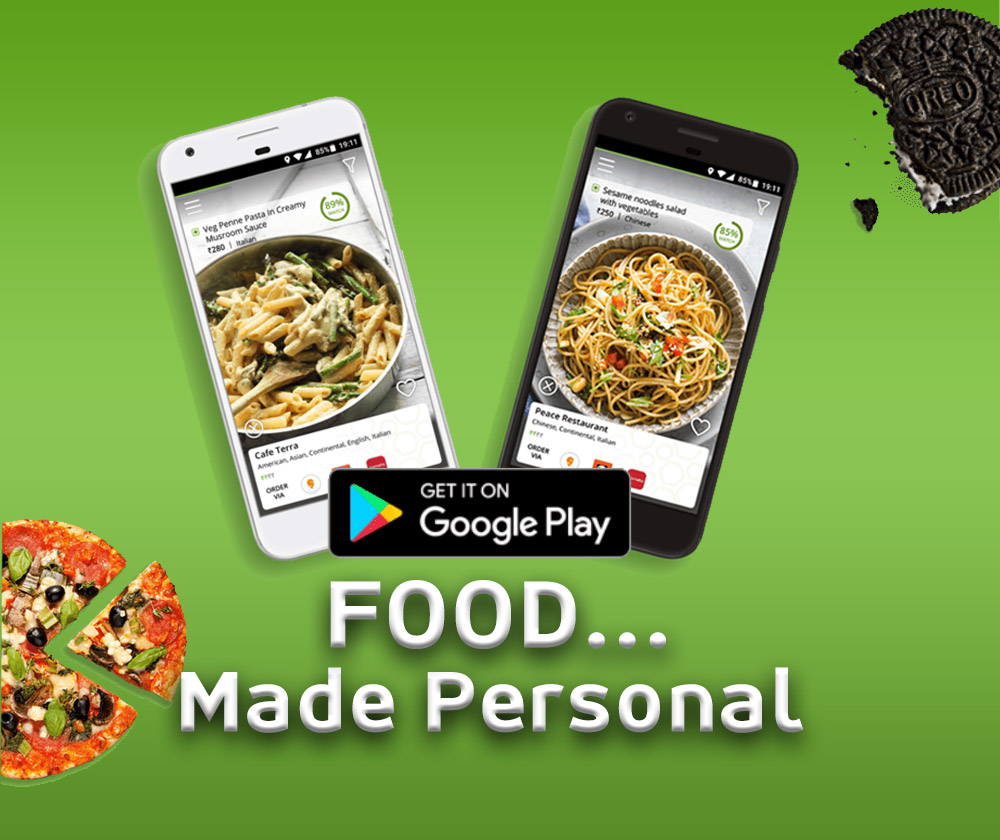 photos of food on smart phones