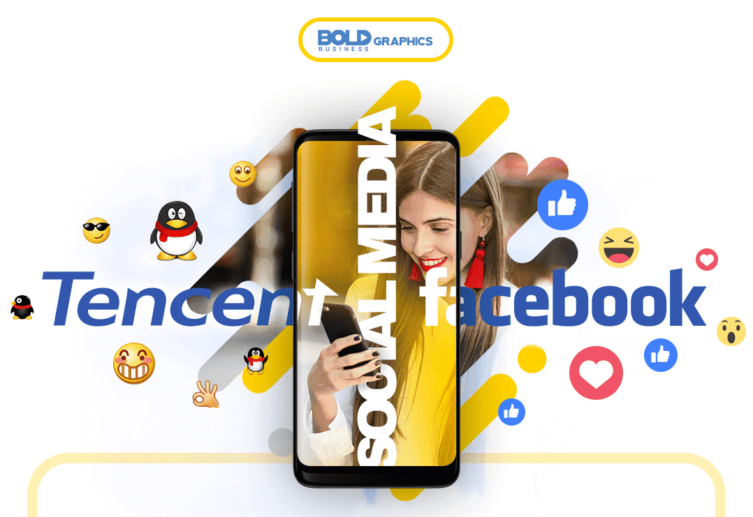 Tencent,Facebook,Tech Giant,Bold Business,Infographics,WeChat,Youtube,WhatsApp,QQ,Facebook Messenger,Instagram,Social Networking,messaging ecosystem,Mark Zuckerberg,Gaming,Advertising,Social media apps,News Feed,biggest social networking