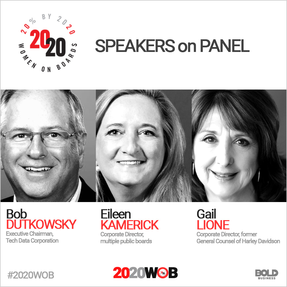 speakers of 2020 women on boards