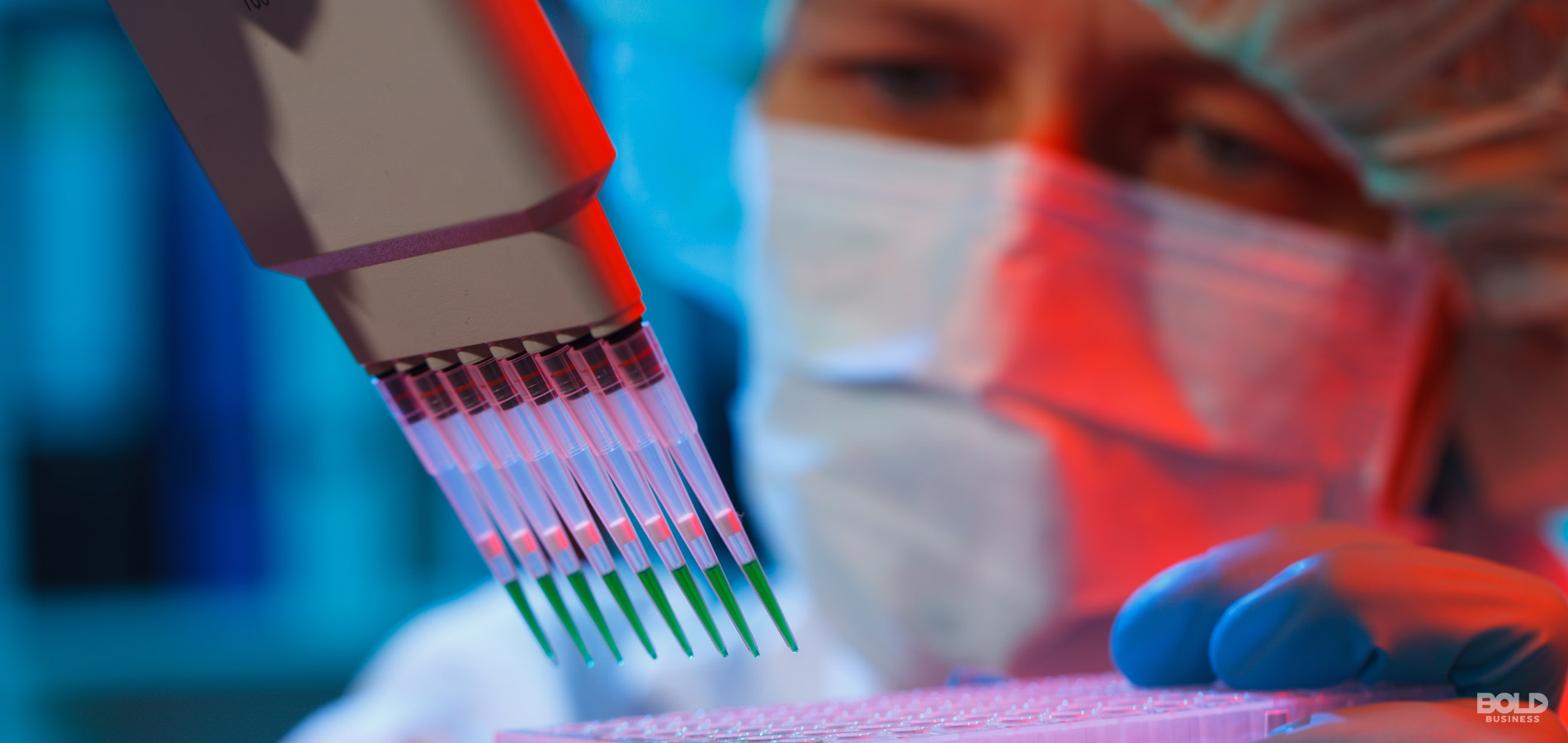 image featuring a researcher doing tests for stem cell research