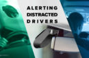 distracted driving prevention technology using front- and rear-facing camera
