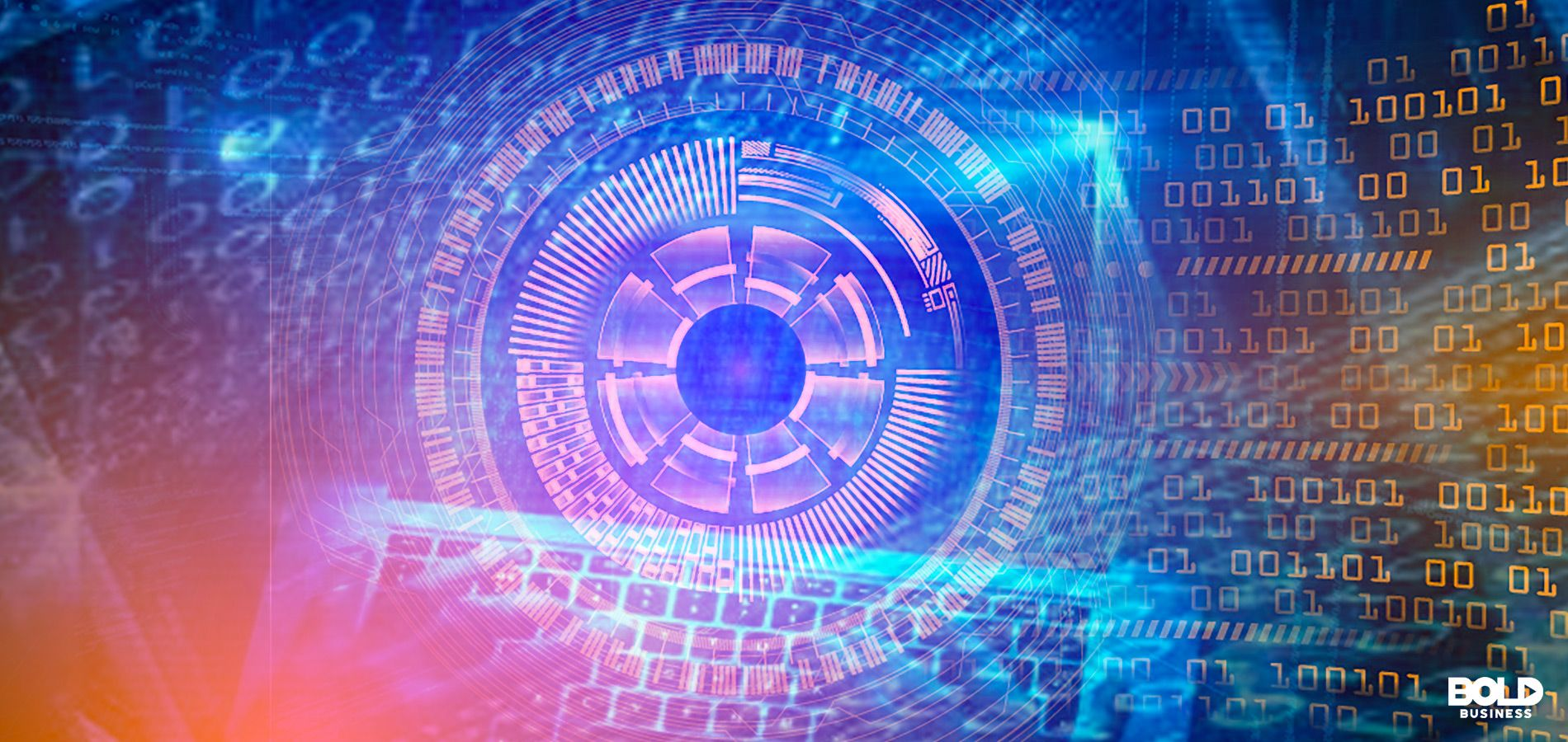 cyber security trends binary code