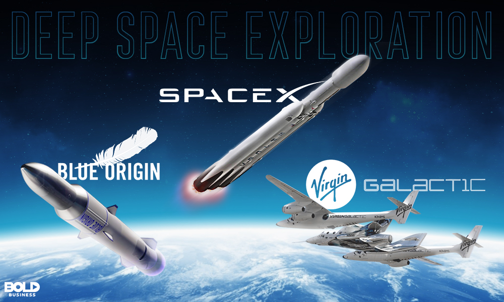 Deep space exploration by spacex, virgin galactic and blue origin