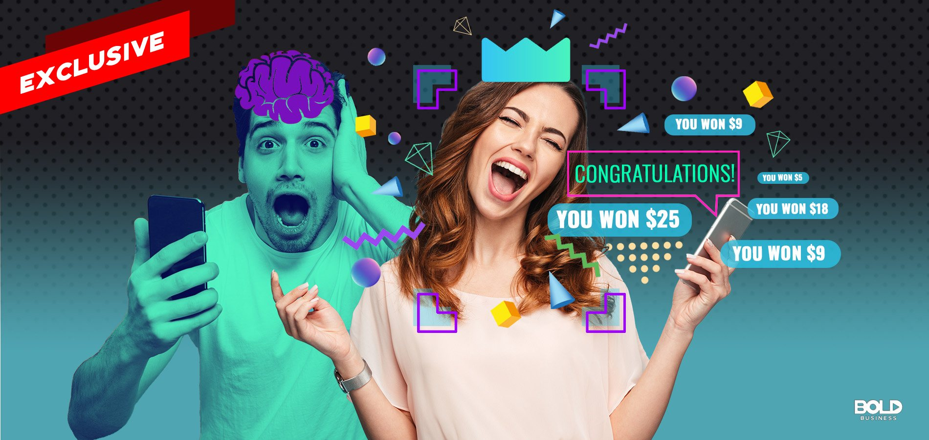 Proveit - woman winning in an online competitive gaming app.