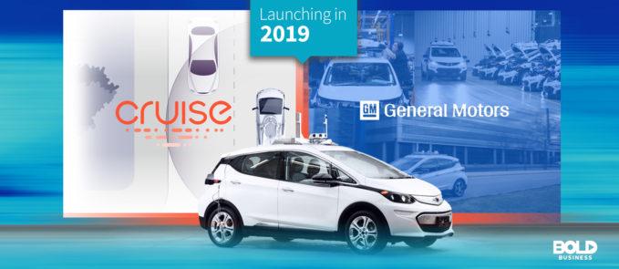 general motors white autonomous car model