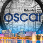 city scape under the map of orlando and the name oscar