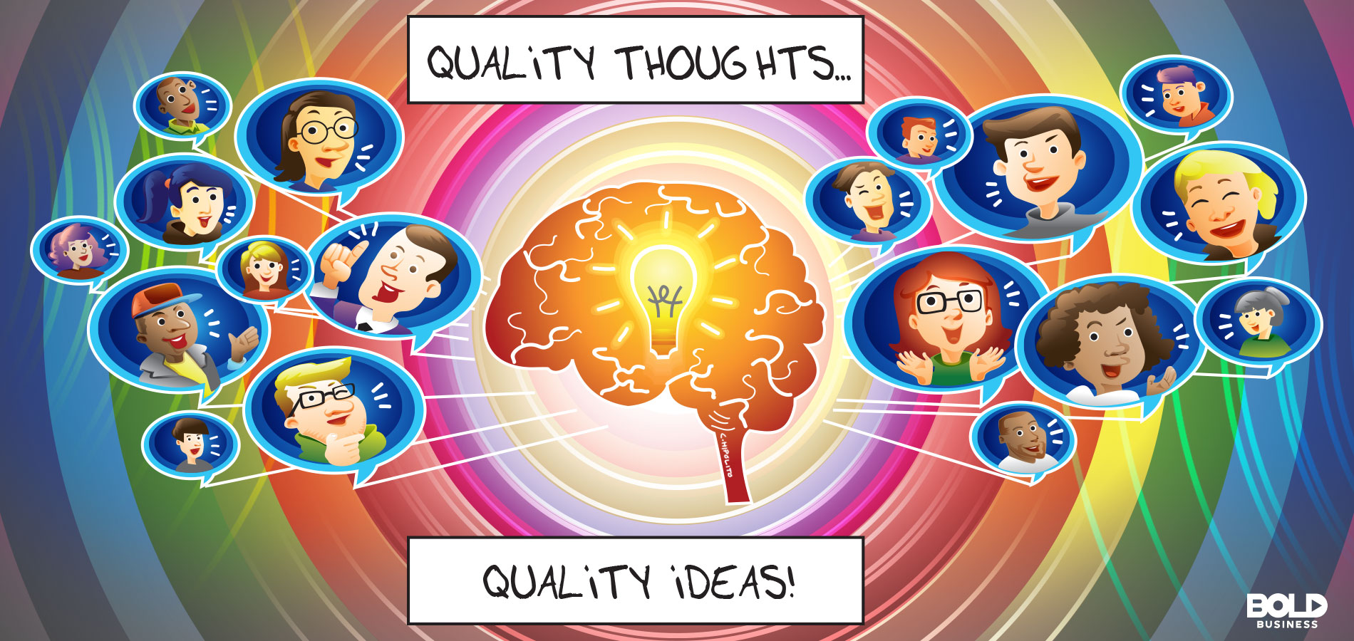 cartoon on quality thoughts and ideas