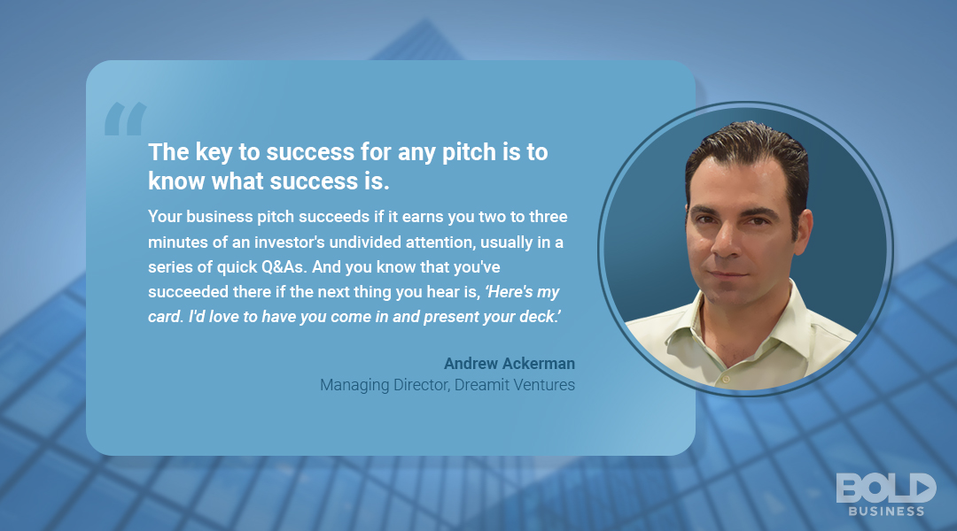 Andrew Ackerman, Managing Director of Dreamit Ventures