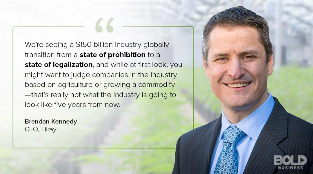 Brendan Kennedy CEO TIlray on canabis industry projections