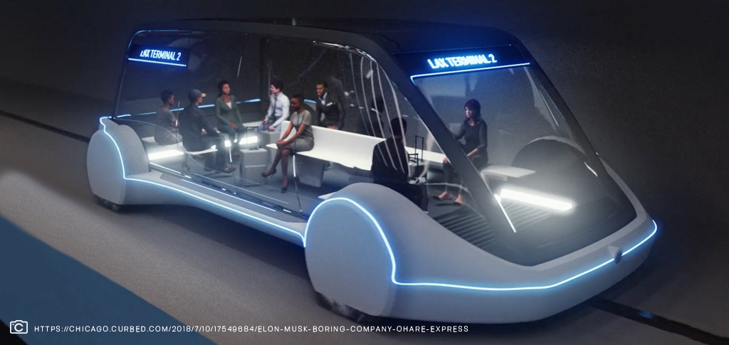 The boring company car of the future