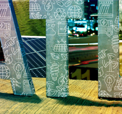renewable energy, 3D street sign showing the acronym for the state of atlanta
