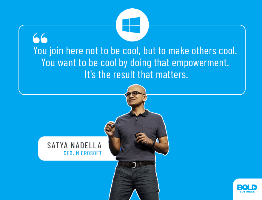 photo quote of Satya Nadella about Microsoft's innovation