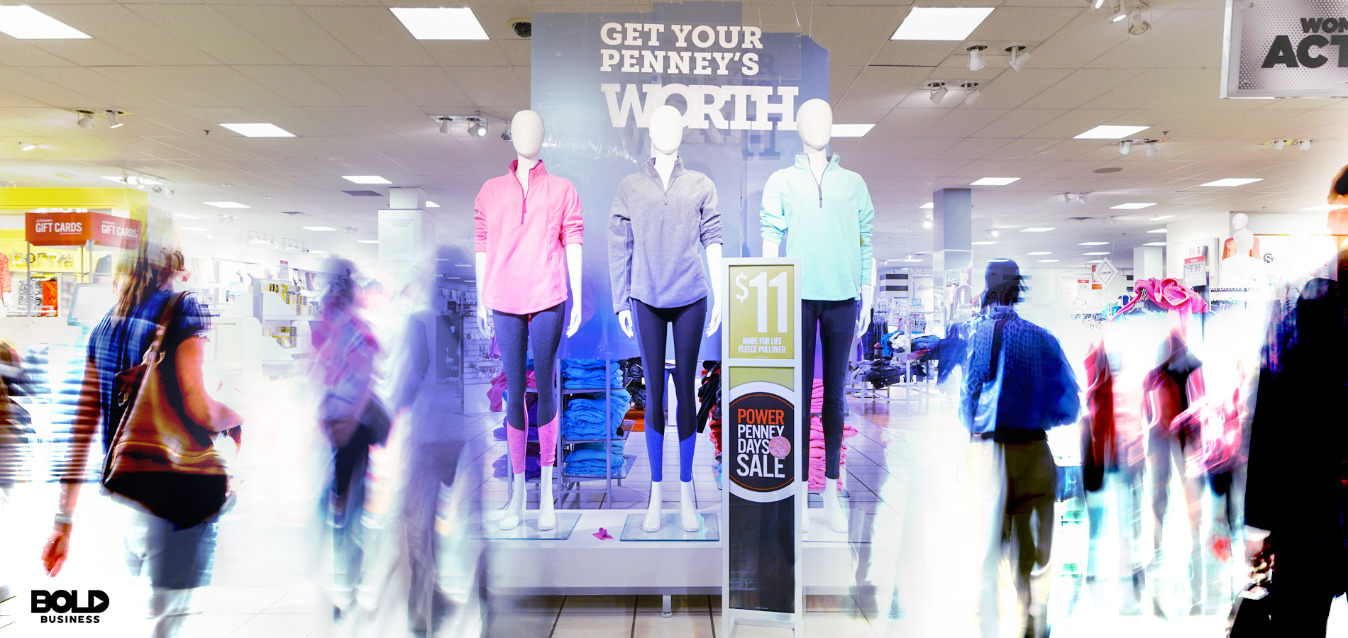 jcpenney mannequins and moving people