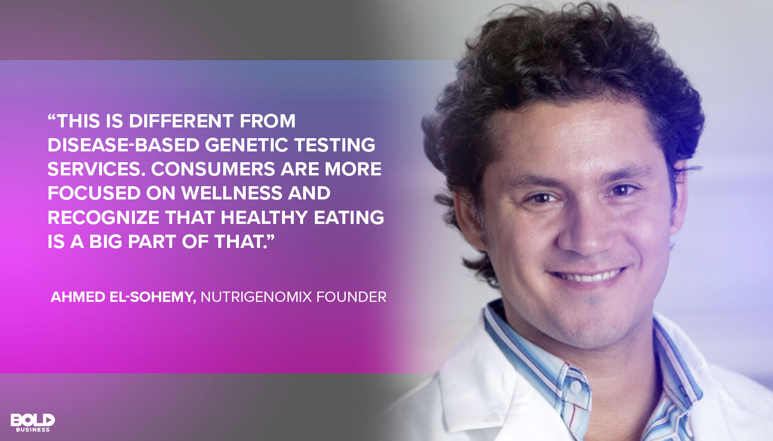 Ahmed El-Sohemy, Nutrigenomix Founder discussing Epigenetics and personalized nutrition