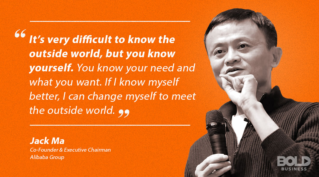 Jack Ma quoted in saying why it's important to know yourself
