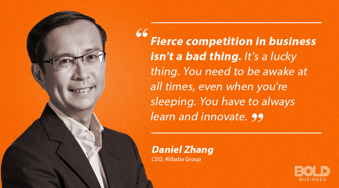 Daniel Zheng quoted in saying fierce competition in business is not a bad thing
