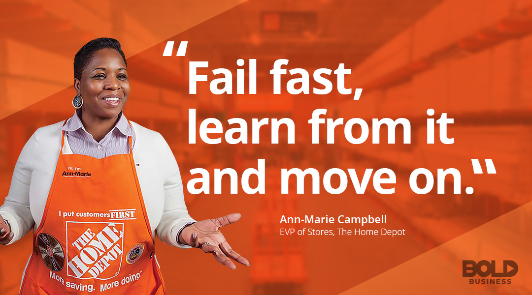 bold leader Ann-Marie Campbell EVP Stores the Home Depot discussing leadership