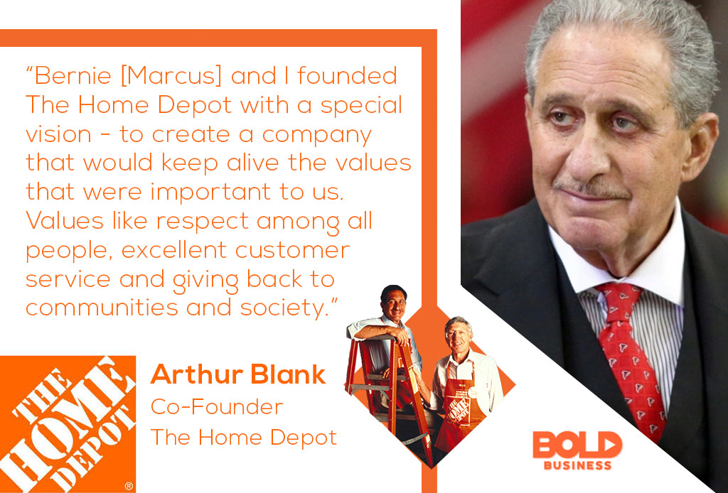 Home Depot business strategy quote from Arthur Blank on the reason for Home Depot growth