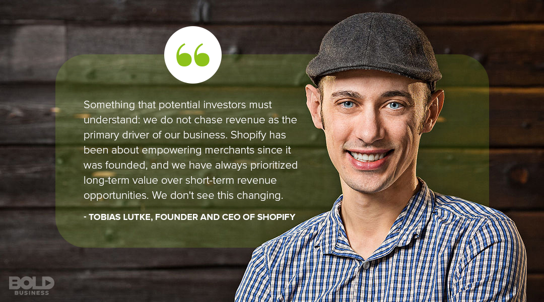 Credit Shopify CEO and Founder Tobias Lutke for making the online retail giant it is today.