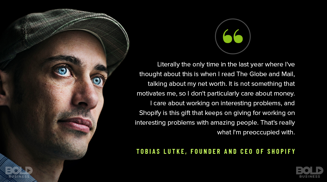 Bold Leader CEO Tobias Lutke has guided Shopify to massive growth.