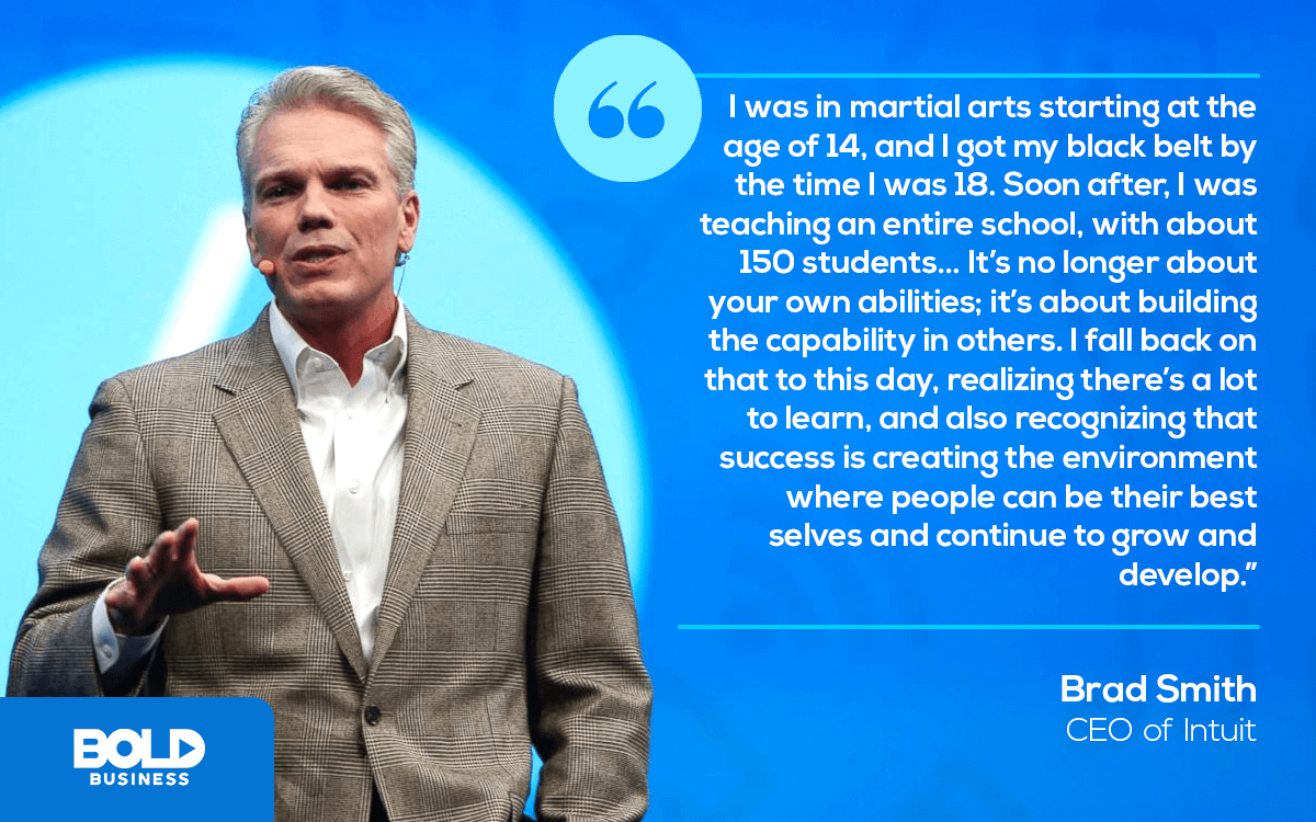 Intuit CEO Brad Smith Discusses How Martial Arts paved a role into Intuit Leadership Paradigm and beyond