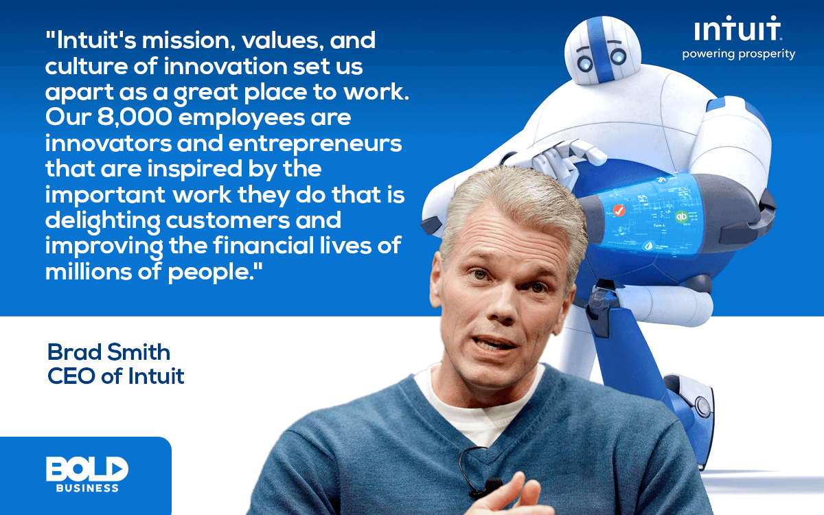 Intuit CEO Brad Smith discusses Intuit's Mission and Intuit leadership