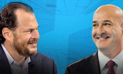 Joint CEOs of Salesforce Marc Benioff and Keith G. Block