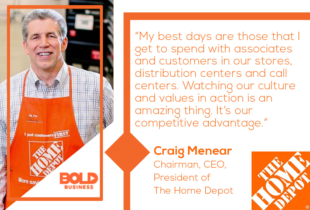 Creig Menear, CEO Home Depot discusses culture and its impact on business strategy